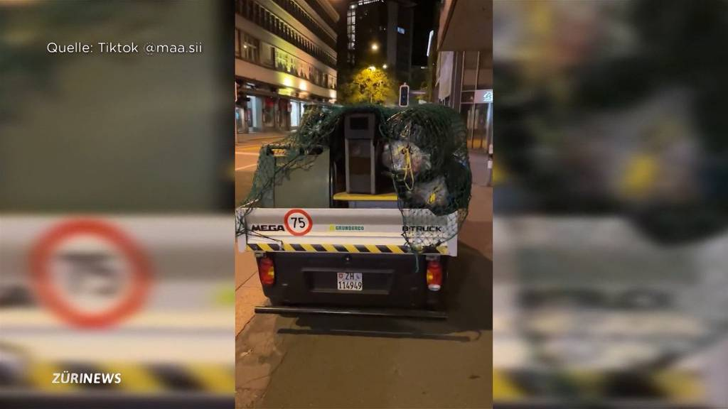 Radar unter Müllsäcken versteckt: Blitzer-Aktion sorgt bei Autofahrern für rote Köpfe