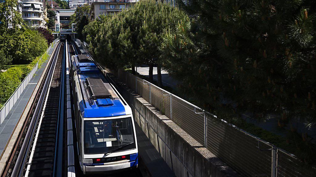 Die Metro von Lausanne ist eine Erfolgsgeschichte. Um die stetig steigende Passagierzahl bewältigen zu können, soll das Streckennetz bis 2027 ausgebaut werden.