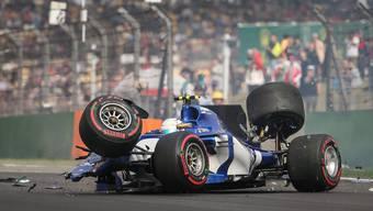 Sauber-Ersatzfahrer Antonio Giovinazzi knallte zweimal die Streckenbegrenzung.