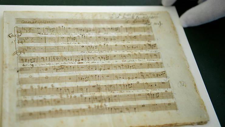 Vom jungen Mozart geschrieben: Dieses Autograph wird in Salzburg ausgestellt.