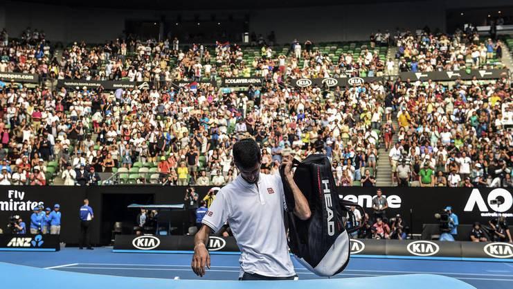 Schaffenskrise: An den Australian Open 2017 schied Djokovic gegen die damalige Weltnummer 117 Denis Istomin aus.