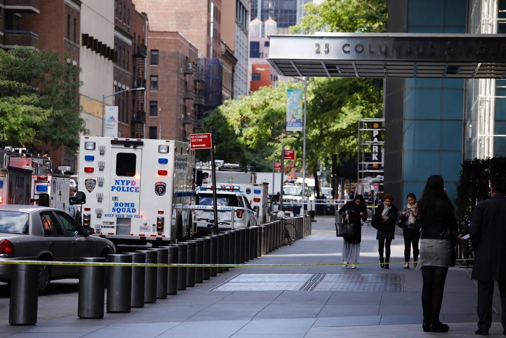 Evakuiertes CNN-Gebäude