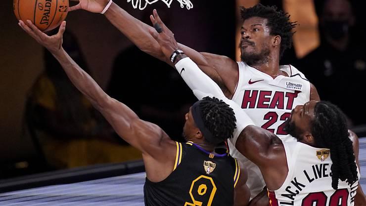 Die NBA-Saison 2020/21 - hier eine Spielszene des fünften Finalspiels zwischen den Los Angeles Lakers und den Miami Heat - soll gemäss Plänen der Ligaführung noch vor Weihnachten beginnen
