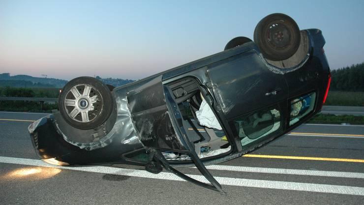 Der Autofahrer verletzte sich beim Unfall nicht.