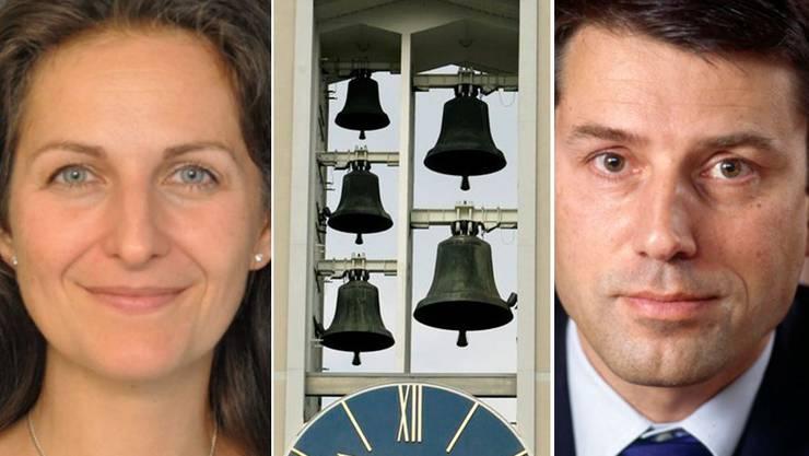 Nancy Holten (l.) kämpft gegen das Glockengeläut. Für Gottfried Locher (r.) ist es ein kostbares Gut.