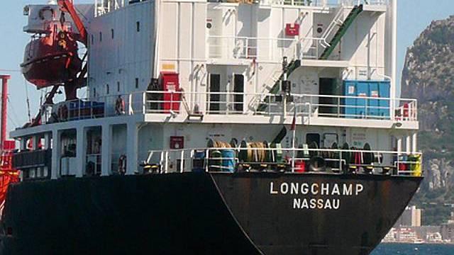 Der Frachter ist frei (Quelle: AP)