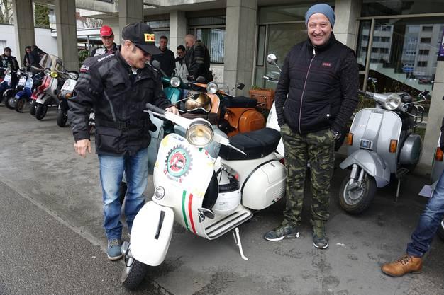 Ein Gefühl wie zu alten Töfflibueb-Zeiten hat Davide, wenn er seine Vespa fährt.