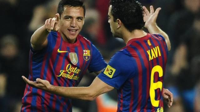 Barcelonas Alexis Sanchez (l.) als Doppeltorschütze gegen Getafe
