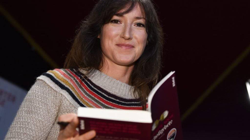 """Charlotte Roche am Donnerstag auf der Frankfurter Buchmesse, wo sie ihr neues Buch """"Mädchen für Alles"""" vorstellte."""