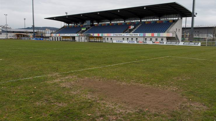 Im Stadion Wohler Fussballstadion Niedermatten wird bald ein Kunstrasen eingebaut.