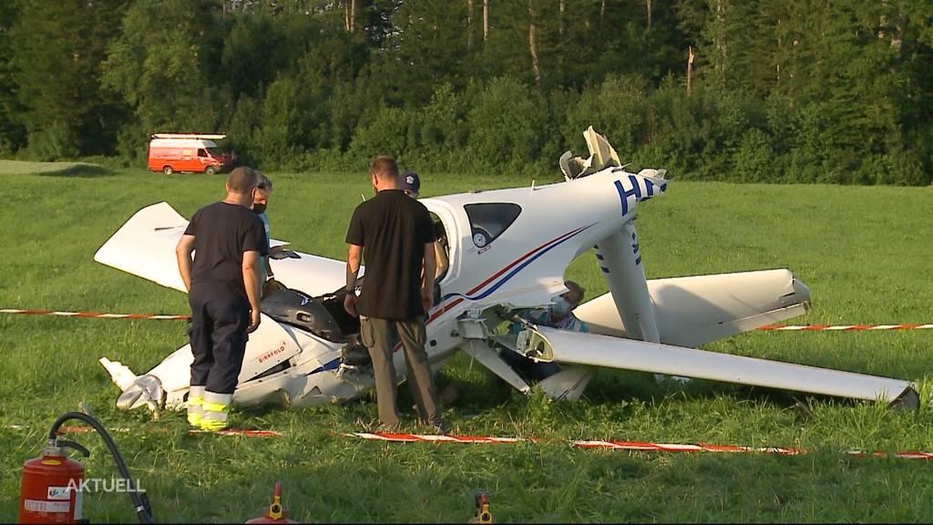 48-jähriger Pilot stürzt am Flugplatz Birrfeld ab