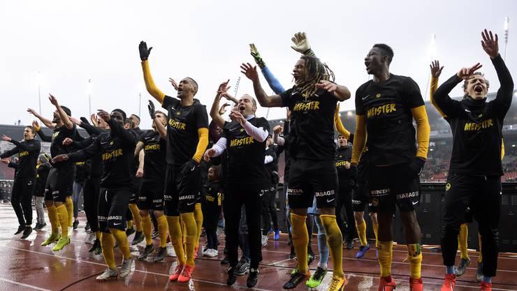 Die YB-Party begann am Sonntag nach dem Sieg gegen Zürich im Letzigrund.