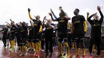 Young Boys feiern Meistertitel nach Spiel gegen Zürich im Letzigrund