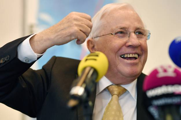 Christoph Blocher sieht seine Partei im Hinblick auf die nationalen Wahlen in guter Verfassung.