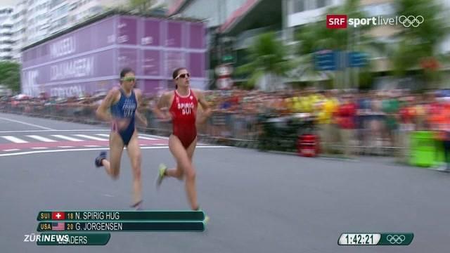 Triathletin Spirig holt Olympia-Silber