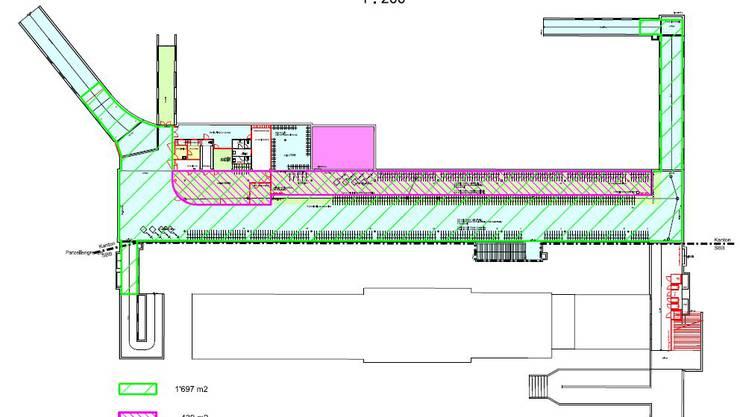 Plan der Velostation Solothurn
