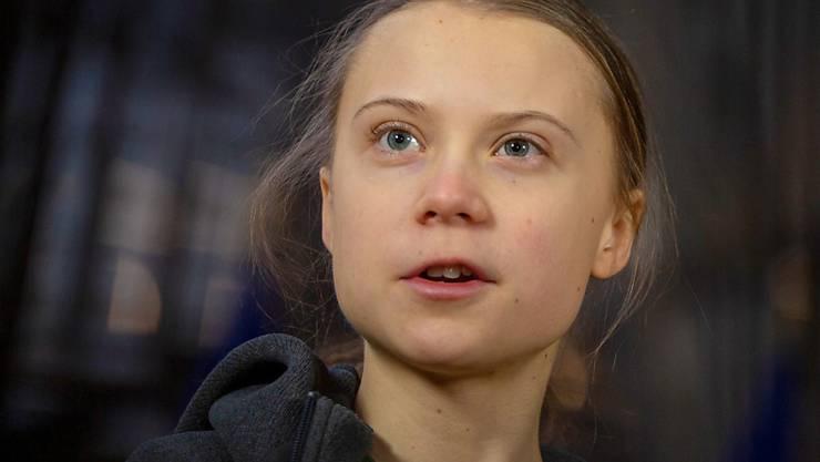 ARCHIV - Greta Thunberg, schwedische Klimaaktivistin, spricht zu Journalisten. Foto: Virginia Mayo/AP/dpa