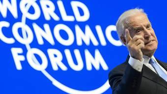US-Vizepräsident Joe Biden warnte am WEF-Eröffnungstag in Davos vor den Folgen der vierten industriellen Revolution.
