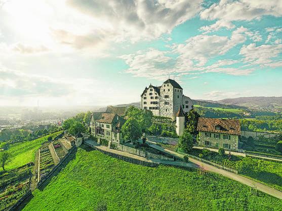 Im Schloss Wildegg wird man von sprechenden Porträts begrüsst.