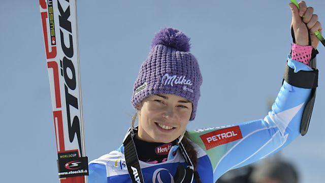 Weltcup-Leaderin Tina Maze führt in der Super-Kombination