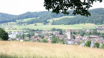 Blick auf das Suhrental vom «Blick zur Heimat» in Schöftland.