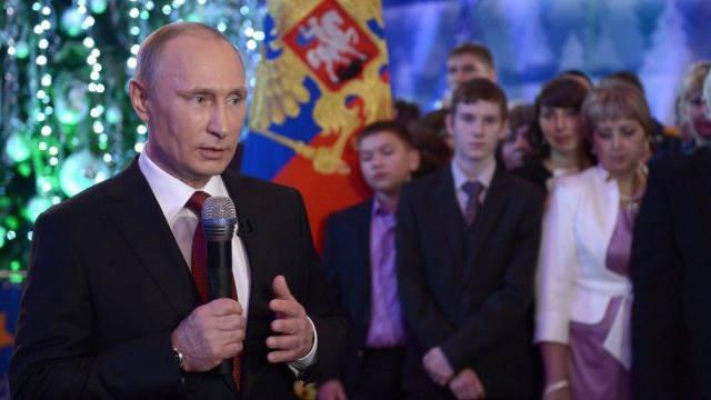 Russlands Präsident Wladimir Putin bei seiner Neujahrsansprache