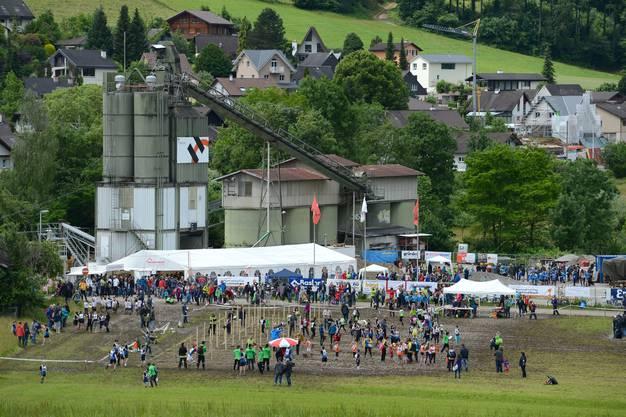 1500 Kinder und Jugendliche nahmen am Turnfest in Thürnen teil.