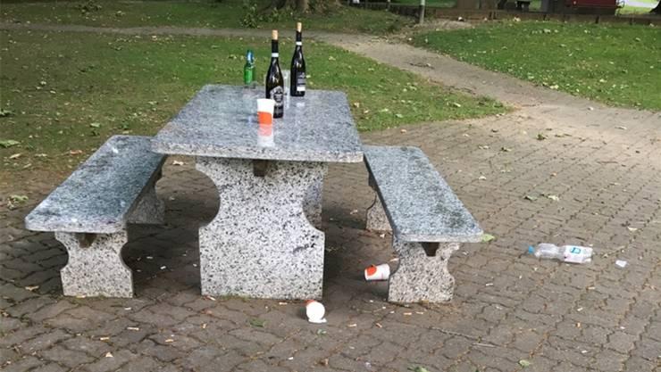 Herumliegender Abfall und leere Flaschen: Das ist nach warmen Sommernächten am nächsten Morgen jeweils im Oltner Stadtpark anzutreffen.