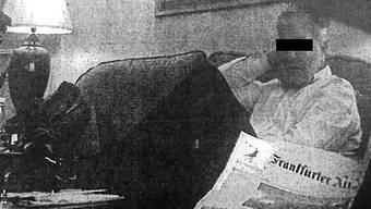 Daniel M., angeblicher Spion, bei einer Geldübergabe.