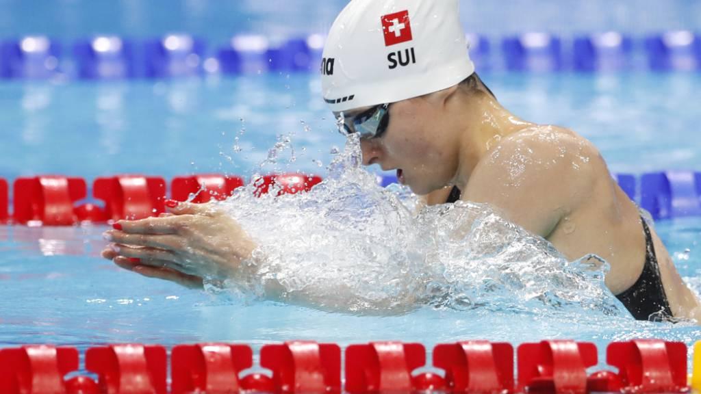 Lisa Mamié zeigte sich in den Vorläufen über 200 m Brust sehr souverän und zog als Drittschnellste in die Halbfinals ein