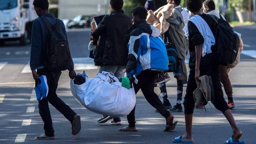 Flüchtlinge in der Schweiz wollen nicht selten weiter nach Deutschland.