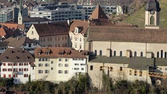 Der Churer Hof mit der Kathedrale, Sitz des Churer Bischofs. key