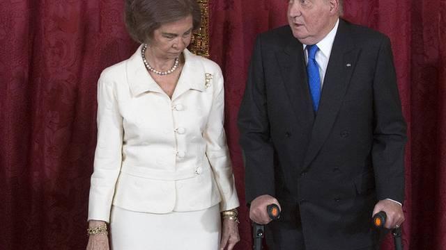 Hat auch noch ein Rückenleiden: König Juan Carlos (Archiv)