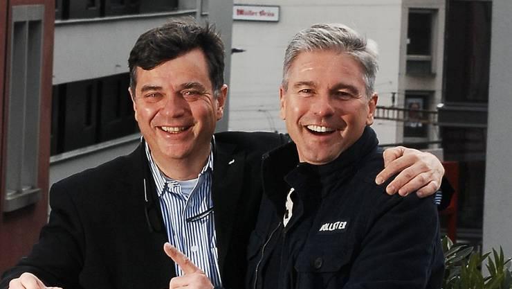 Daniel Hertig (li.) und Fabian Engel «in zivil»... Angelo Zambelli