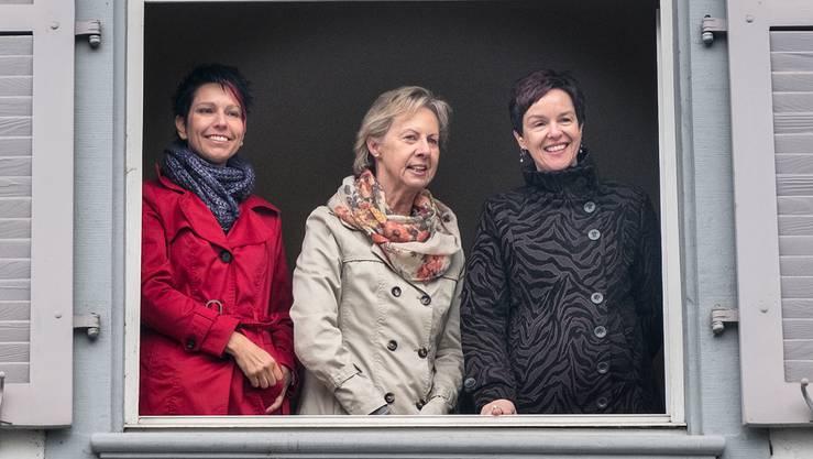Nationalrätin Sandra Sollberger, Landrätin Rosmarie Brunner und Regierungsrätin Monica Gschwind