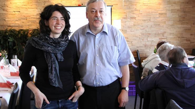 Rosmarie Joss und Rolf Steiner der SP feiern ihre Wahl im Restaurant Carona in Schlieren