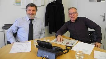Roland Heim und Chefredaktor Balz Bruder.