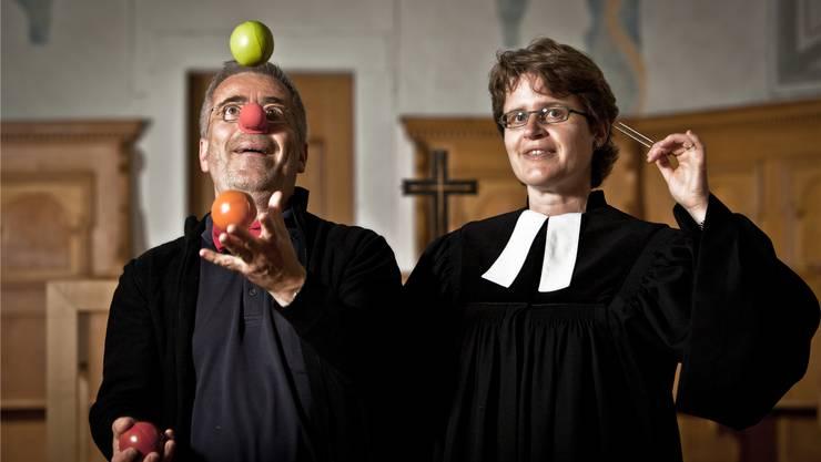 Er hat in den letzten Jahren mehrere Clown-Ausbildungen absolviert: Matthias W. Fischer mit seiner Frau Irene Girardet Fischer.Chris Iseli