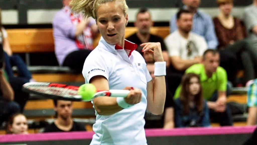 Viktorija Golubic feierte ihren ersten Schweizer Meistertitel