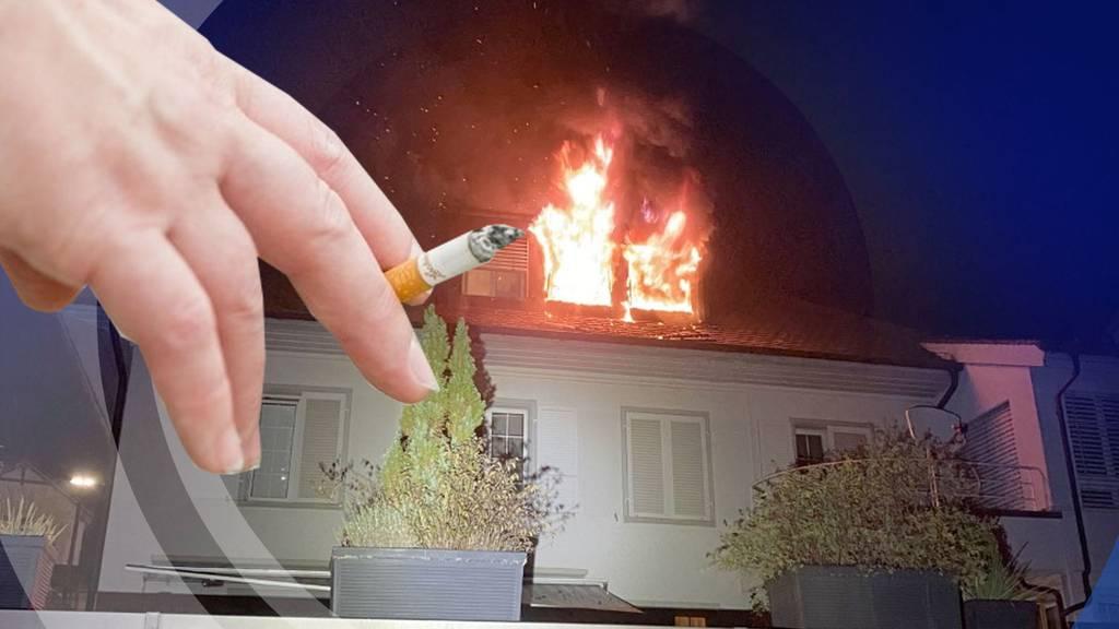 Zigarette ist schuld, dass in Aarburg 12 Personen obdachlos sind