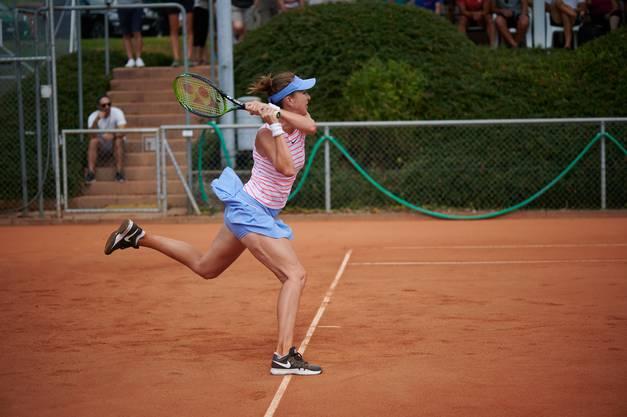 Die beste Schweizer Tennisspielerin zeigte ihr Können auf dem Platz.