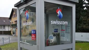 Eine der 72 letzten Telefonkabinen in der Region: Das Publifon in Schafisheim.