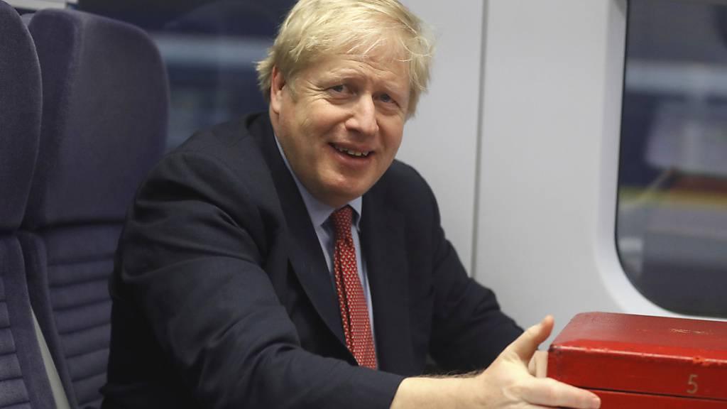 Die Konservative Partei des britischen Premierministers Boris Johnson führt in den Umfragen zur Parlamentswahl.