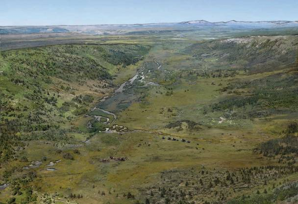Das Wehntal vor etwa 45 000 Jahren als die Mammuts hier lebten.