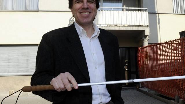 Ein Blinder regiert künftig im Tessin: Manuele Bertoli von der SP ist Regierungsrat (Archiv)