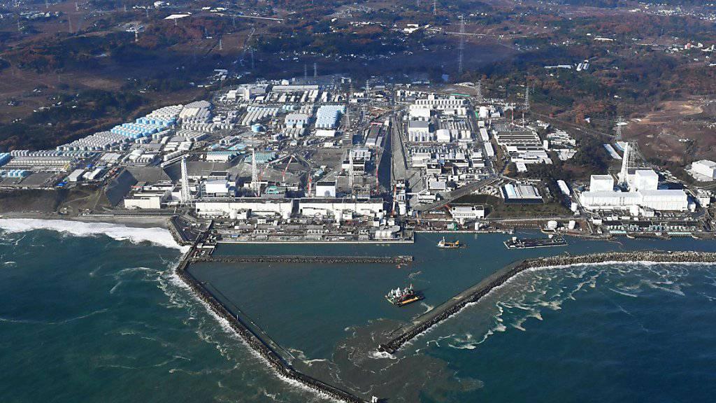 Luftaufnahme des AKW-Geländes Fukushima Dai-ichi, wo der Blindgänger gefunden wurde (Archiv)