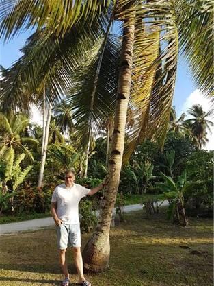 Markus Herzog (57) auf der Insel.