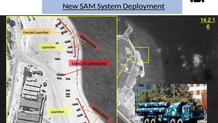 China ist laut US-Quellen militärisch aktiv auf Woody Island, der grössten der Paracel-Inseln im südchinesischen Meer.