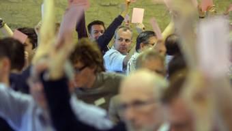 Die Delegierten stimmen ab