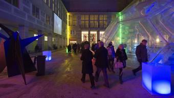 Das erleuchtete Kunstmuseum in der Basler Museumsnacht 2011. (Archiv)